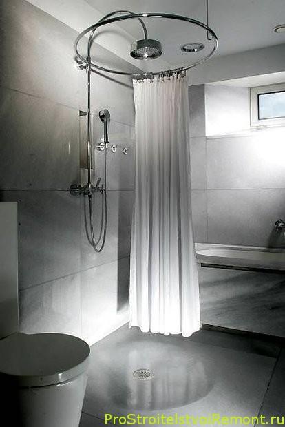 Стильный дизайн и интерьер ванной комнаты с душевой кабиной фото