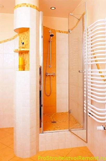 Дизайн ванной комнаты с душевой кабинкой фото