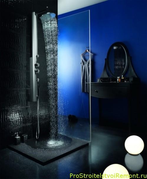 Фотографии интерьера ванной комнаты с душевой кабиной фото