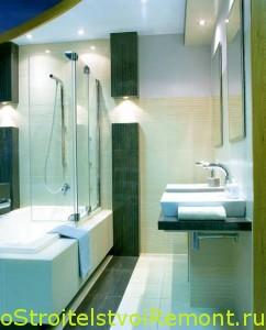 Стильный дизайн ванной комнаты с душевой кабиной фото