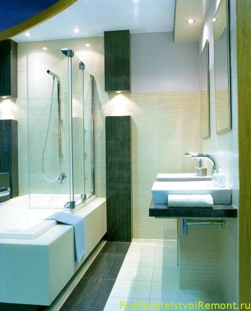 Организации маленькой ванной комнаты