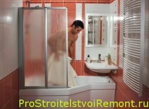 Интерьер и дизайн ванной комнаты сдушевой кабиной фото