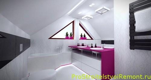 Ванная комната на чердаке фото