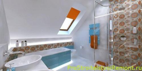 Фотографии ванной комнаты на чердаке фото