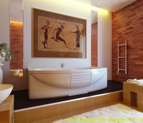 Ггреческий стиль ванной комнаты фото