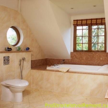 Дизайн Ванной на чердаке