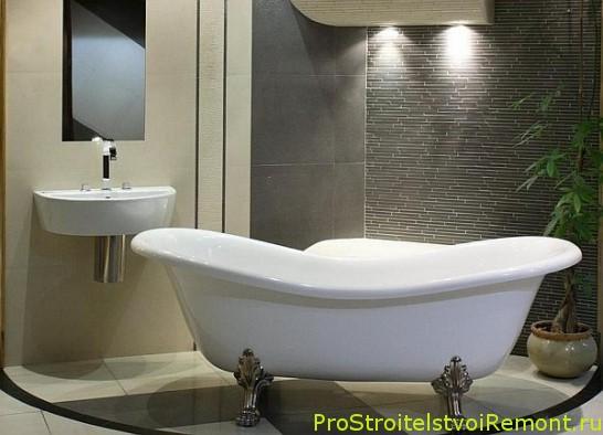 Декоративное освещение в ванной комнате фото