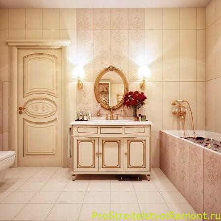 Современная ванная комната в русском стиле