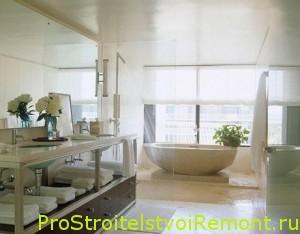 Окно в ванной комнате. Дизайн и интерьер ванной фото
