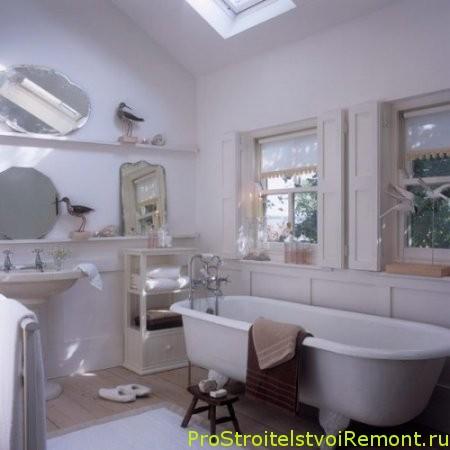 Дизайн Ванной на чердаке. Ванная комната