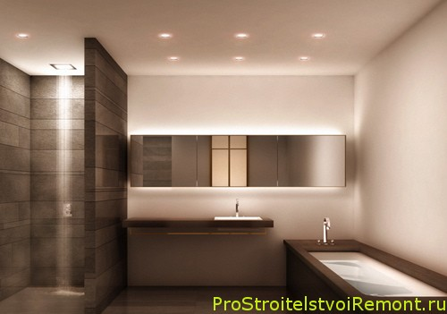 Дизайн потолка в ванной комнате фото