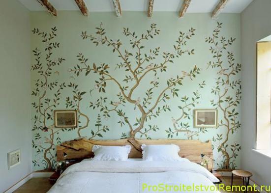 Дизайн интерьера романтической спальни в винтажном стиле фото