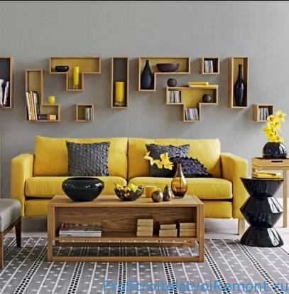 Дизайн гостиной в желтом цвете фото
