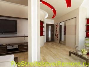 Ремонт и дизайн зала фото