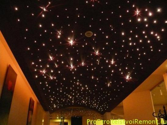 Дизайн освещения. Звездное небо на потолке. Как сделать эффект звездного неба?